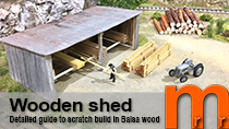 Model a wooden shed