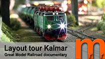 Layout tourof Kalmar Model railroad club KMJK