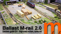 Ballasting Marklin M-rail for greater realism