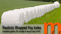 Tutorial how to model wrapped hay bales easy and low cost