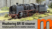 Weathering an German steamer Baurate 50